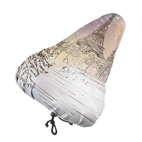 Dem Boswell Fahrradsitzbezug, Winter Weihnachten Schutz wasserdicht Sonnenschutz Fahrradsitz Regenbezug Fahrradsattelbezug