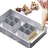 jooheli - stampi da forno in alluminio, regolabili, antiaderenti, set di stampi per torte e lettere e numeri
