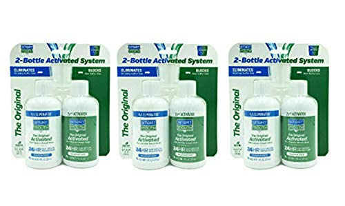 SmartMouth Original Mouthwash 16oz 2-Bottle Activated System for 24-Hour Bad Breath Protection, 3-Pack