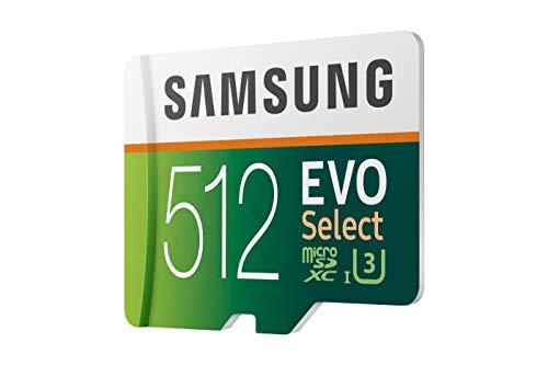 Samsung mb de me512ga/eu evo select microsdxc tarjeta de memoria con sd adaptador, 512.gb, class 10.