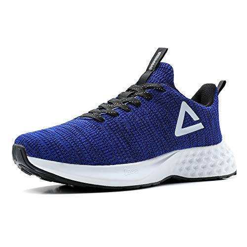 PEAK Taichi Mens Comfortable Lightweight Running Shoes – Taichi EGGII Cushioning Breathable Walking Sneakers for Casual Workout, Training, Fitness, Gym, Jogging Blue