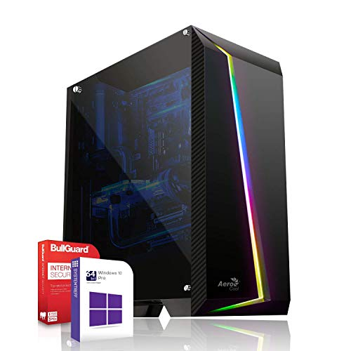 Gaming PC/Multimedia Computer inkl. Windows 10 Pro 64-Bit! - Quad-Core Intel Core i5-9600K 6X 3.6 GHz - Nvidia Geforce GTX 1050 Ti mit 4GB GDDR5 RAM - 16GB DDR4 RAM - 120GB SSD 500GB HDD
