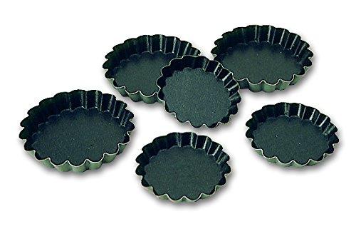 Blister de 12 tartelettes rondes cannelées EXOPAN professionnelles à 110 mm de diamètre
