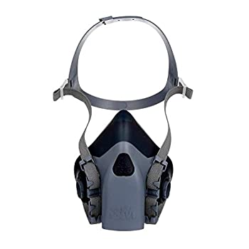 3M Reusable Respirator Half Face Piece 7503 Use with Bayonet Cartridges/Filters  Not Included  for Gases Vapors Dust Large Size