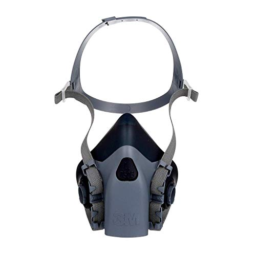 3m mascaras 3M Reusable Respirator, Half Face Piece 7503, Use with Bayonet Cartridges/Filters (Not Included) for Gases, Vapors, Dust, Large Size