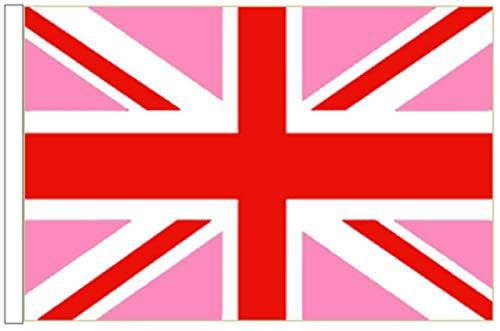 FlagSuperstore© Union Jack rosa Bootsflagge 45 cm x 30 cm – Baumhäuser, Wohnwagen – Ärmel 45 cm x 30 cm – Gay Pride LGBTQ