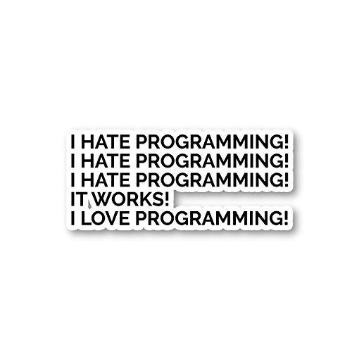 "I Love Programming Sticker Geek Stickers - Laptop Stickers - 2"" Vinyl Decal - Laptop, Phone, Tablet Vinyl Decal Sticker S1120"