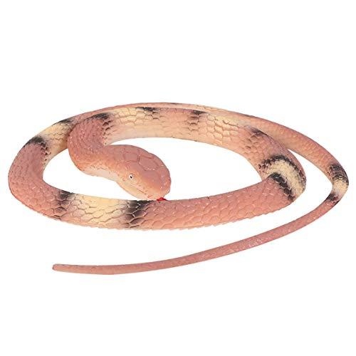 STOBOK Realistisches Schlangenspielzeug Gummischlangenfigur Falsches Schlangenspielzeug Gruselige Knebelgeschenkdekorationen für Halloween-Streichrequisiten-Kaffee