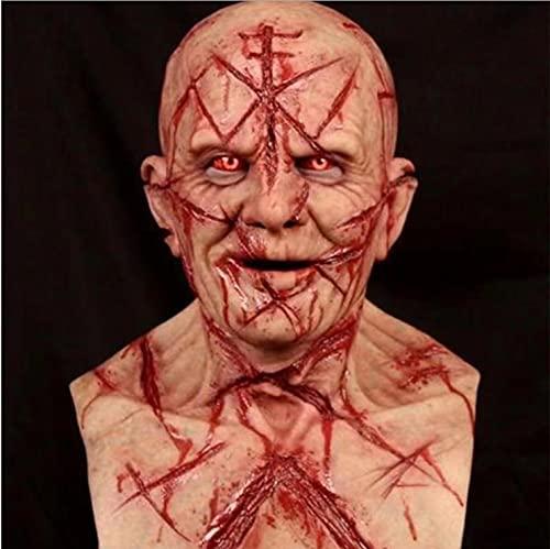 BDTOT Máscara Espeluznante para Halloween, Máscara Terrorífica, Máscara para Cicatrices, Cosplay, Terrorista, 3D, Realista, Cobertura para La Cara Miedante