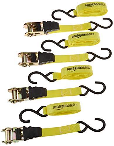 Amazon Basics - Correa para trinquete - Paquete de 4