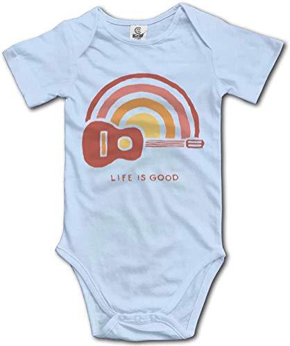 Guitar Life is Good Baby Boy Girl Onesie Newborn Organic Bodysuit Romper Blue