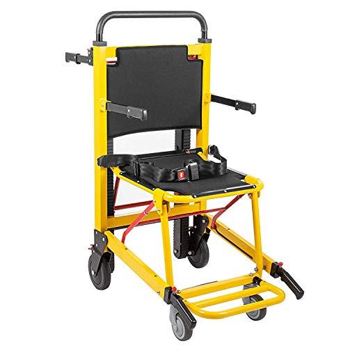 Medizinische Stuhl Treppenhebe Motorisierte Klettern Rollstuhl Treppenlift Stuhl Aufzug Tragfähigkeit 350 lbs Manuell faltbare Crawler 4 Evakuierungs Stuhl Ambulance Folding EMS Stair Chair