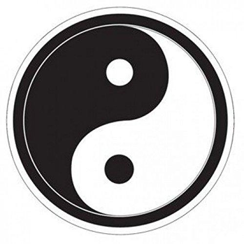 1art1 Symboles Poster-Sticker Autocollant - Yin Yang (9 x 9 cm)