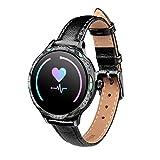 JXFF M9 Lady SmartWatch Impermeable IP68 Tipo de corazón Sphygmomanómetro Whatsapp Recordatorio Smart Watch Tracker de...