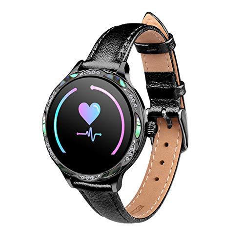 ZYDZ M9 Femenino Smart Watch IP68 Impermeable, Color Toque Pantalla de Motion Tracker, Women's Muñeca Recordatorio de Ciclo Menstrual, Pulsera Inteligente para Mujer para Android iOS,D