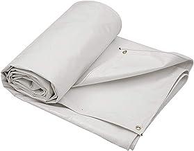 Tarpaulin Tarpaulin Thicken Shade Cloth Rainproof Cloth Canopy Canvas Tarpaulin White (Kleur: Wit, Afmeting: 6m x 4m)