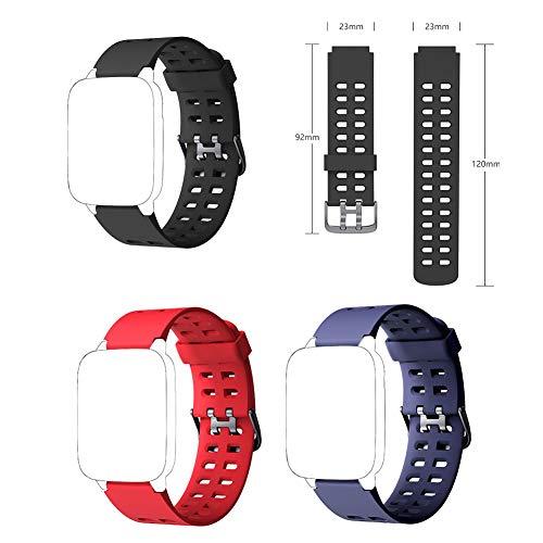 NNNGT Smartwatch-Armband, verstellbar, Ersatzarmband aus Silikon, weiches Armband kompatibel mit Id205 Id205l Id205s Smartwatch