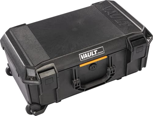 Vault by Pelican - v525 Case with Padded Dividers for Equipment, Electronics Gear, Camera (Black)