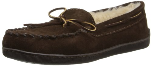 Minnetonka Pile Lined Hardsole, Mocassins (loafers) homme - Marron - Brown (Chocolate), 48