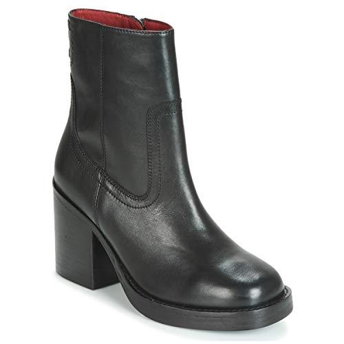 BRONX BULA VARD Enkellaarzen/Low boots dames Zwart Enkellaarzen