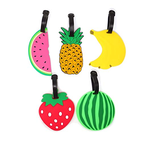 Honbay 5PCS Silicone Fruit Luggage Tags Travel Baggage Labels