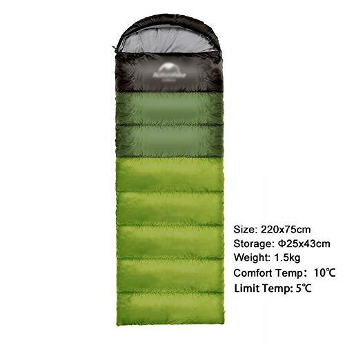 Générique Sac de Couchage pour Camping en Plein air Ultra léger avec épissures Double Personnes, Sac de Couchage Portable en Plein air, Sac de Couchage Nemo (Couleur : Vert 1,5 kg)