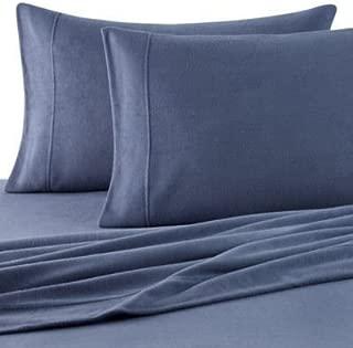 Oversized Berkshire Microloft Softer Sleep Sheet Set (Blue, Queen)