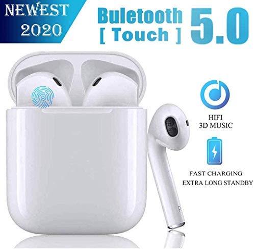 MISO Auricolari Bluetooth 5.0 Auricolari Senza Fili, IPX5 Impermeabile 24H Playtime Vero Wireless Cuffie Sport,riduzione del Rumore Stereo 3D HD, per Cuffie Apple AirPods PRO/Android/iPhone/Samsung