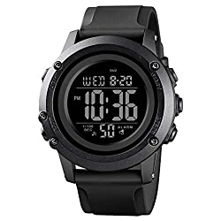 top rated Men's digital sports watch Stopwatch and men's large dial waterproof watch with alarm … 2021