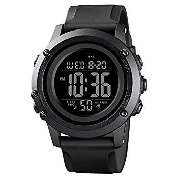 Men s Digital Sports Watch Large Face Waterproof Wrist Watches for Men with Stopwatch Alarm LED Back Light