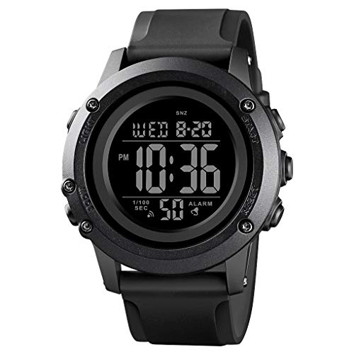 Men's Digital Sports Watch Large Face Waterproof Wrist Watches for Men with Stopwatch Alarm LED Back Light
