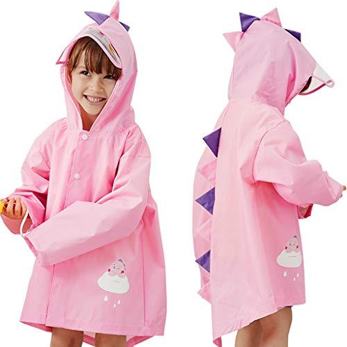 Bambino Impermeabile Cappotto di Pioggia Bambini Unisex Leggero Giacche da Pioggia Mantella Poncho Antipioggia Riutilizzabile