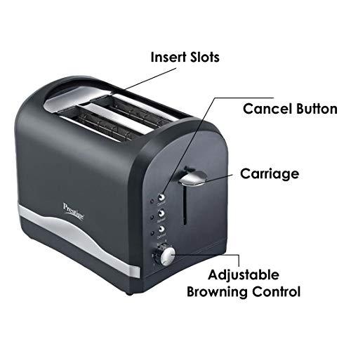 Prestige PPTPKB 800-Watt 2-Slice Pop-up Toaster (Random)
