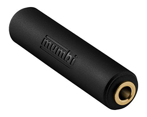 mumbi Audio Klinke Doppelkupplung - 3.5mm Klinke Buchse auf 3.5mm Klinke Buchse vergoldet