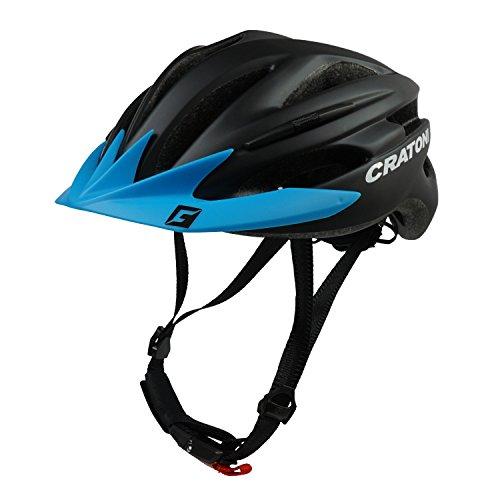 Cratoni Fahrradhelm Pacer, Black matt - Visier blau, Gr. L-XL (58-62 cm)