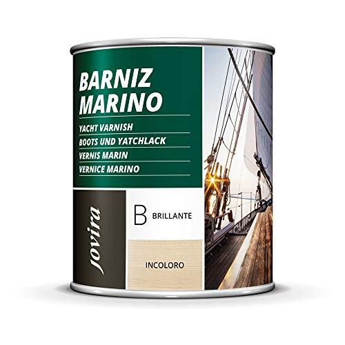 BARNIZ MARINO, Barniz madera exterior-interior, barniz madera incoloro-transparente) Especial resistencia en ambientes marinos. (750 ml, BRILLANTE)
