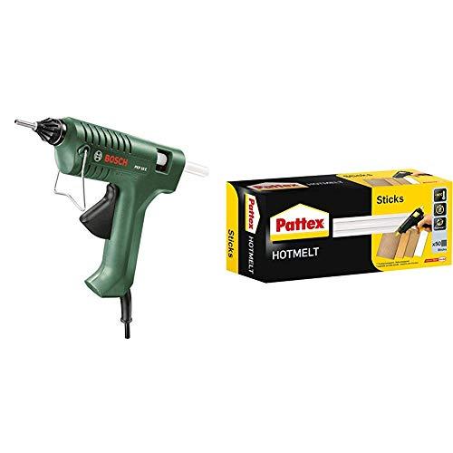 Bosch PKP 18 E Pistola Incollatrice + Pattex Stick colla a caldo Hot Sticks, 1 kg, transparente