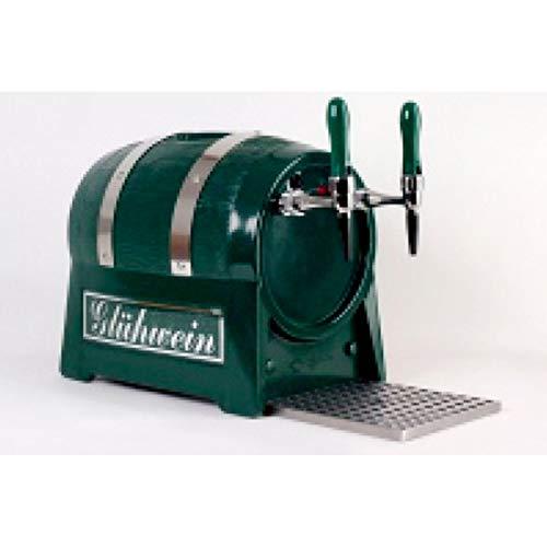ich-zapfe Calentador de agua de bebidas, 3 kW, forma de barril de 2 lados, con compresor de aire integrado.