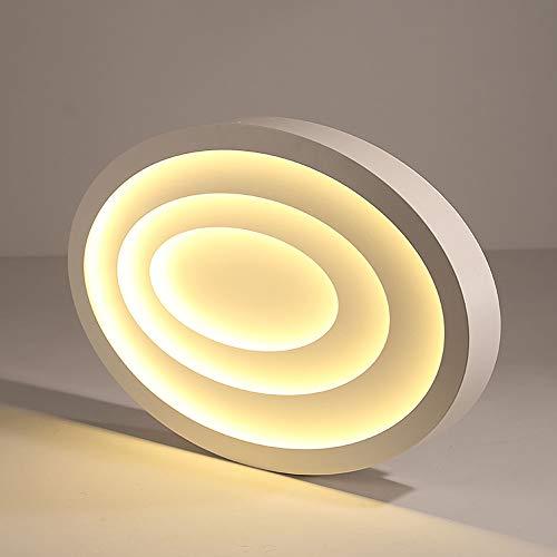 LED Deckenleuchte Dimmbar Wohnzimmer Lampe Weiß Deckenlampe Modern Oval Design Eisen Acryl...