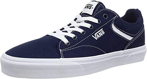Vans Seldan, Sneaker Hombre, Vestido De Lona Azul Azul Blanco Jy3, 43 EU
