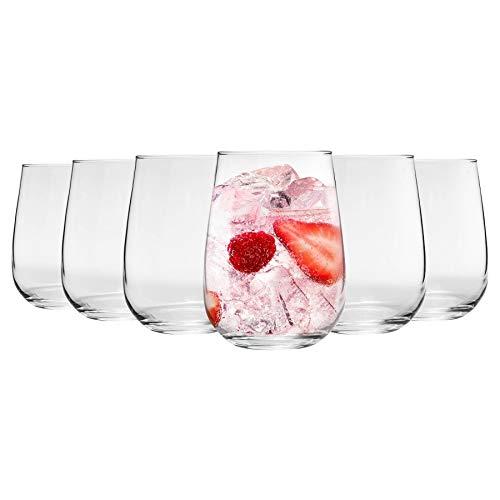 Argon Tableware 6 Pieza Gin Tonic Corto sin pie y Vasos, Decorado...