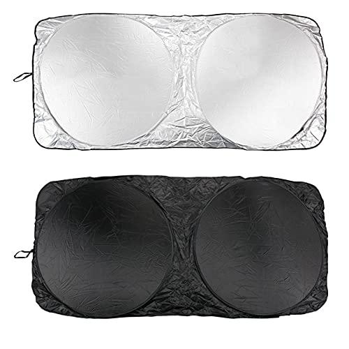 KDLLK para Tesla Model X Model S Model 3, Parasol del Parabrisas Delantero del Coche, Parasol Plegable Sunshad