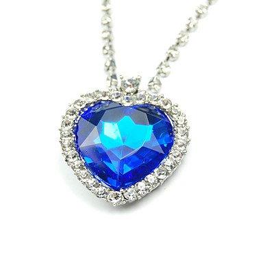 Get Titanic Ocean Blue - Collar con colgante de amor