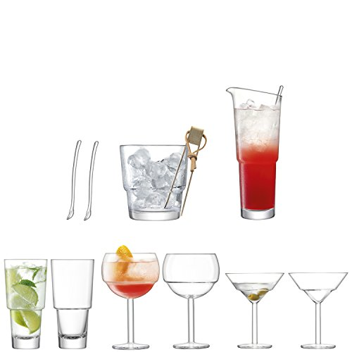 LSA International Mixologist Cocktail mixeur Set, 28.2 x 29.3 x 37.6 cm
