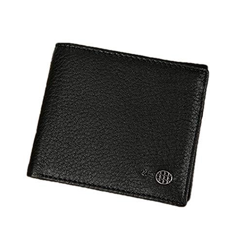 TRDCZ Smart Bluetooth Wallet Anti-Verlorene GPS Positioning Control Herren Geldbörse Smart Bluetooth Anti-Verlorene Diebstahl Mode Brieftasche Lederwaren,Black