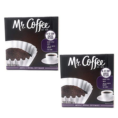 Mr. Coffee 8-12 Cup Coffee Filters, Box, Assorted, 100 Count (Pack of 2)