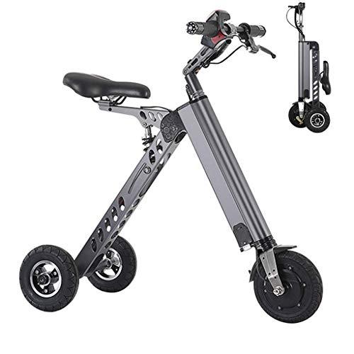 A&DW Mini Scooter Elettrico Pieghevole, Triciclo Portatile, Peso 13 kg, per Viaggi di Lavoro in Centro