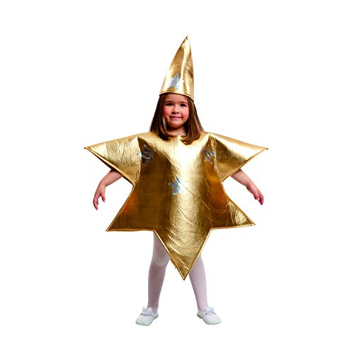 My Other Me Me-204392 Disfraz de estrella para niña, color dorado, 5-6 años (Viving Costumes 204392)