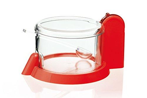 Guzzini Forma casa 165054–31–Bote para Queso rallado (plástico Rojo, 15cm de diámetro