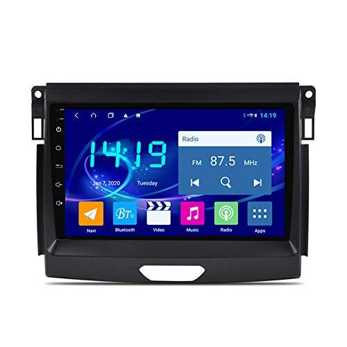 Sistema de navegación GPS, adecuado para 16-18 Ford Cars Everest, navegación de pantalla táctil estéreo HD, radio de automóvil, reproductor Bluetooth 4 + 64g